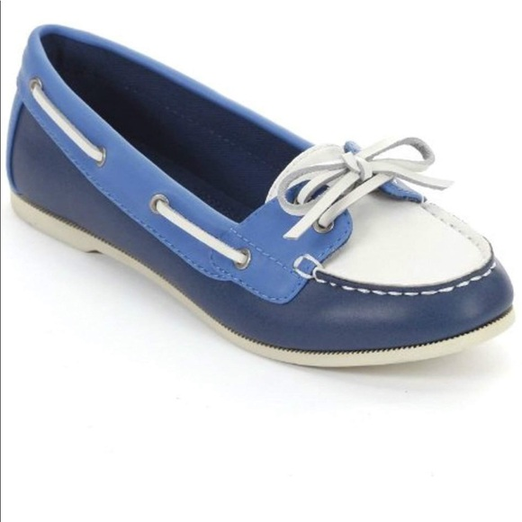 croft   barrow Shoes - Croft Barrow Two Tone Blue Slip On Boat Shoes 11 59b15899291